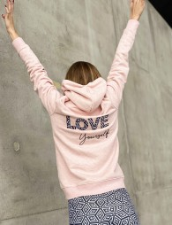 "Zipped jacket ""LOVE YOURSELF"""