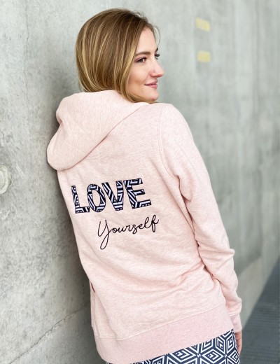 Veste zippée LOVE YOURSELF