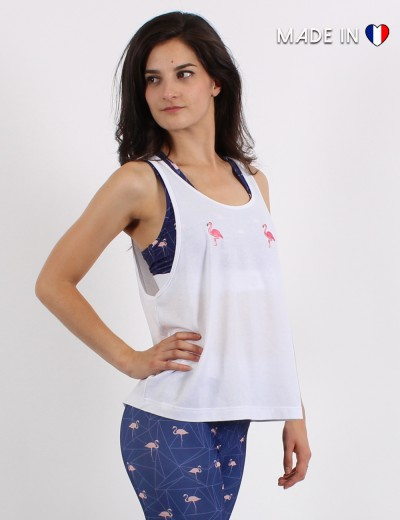 Tank top with patch