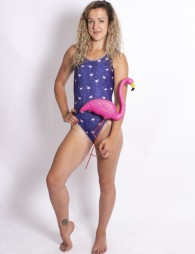 One piece swimsuit Flamingo